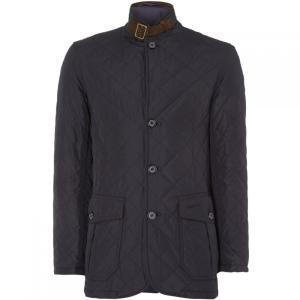 バーブァー Barbour メンズ ジャケット アウター Lutz Quilted Jacket Navy|fermart3-store