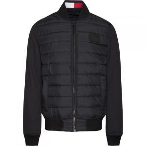 トミー ヒルフィガー Tommy Hilfiger メンズ ブルゾン アウター Stripe Rib Bomber Jacket Jet Black|fermart3-store