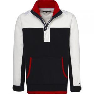 トミー ヒルフィガー Tommy Hilfiger メンズ フリース トップス Relaxed Polar Fleece Jacket Blue Multi|fermart3-store