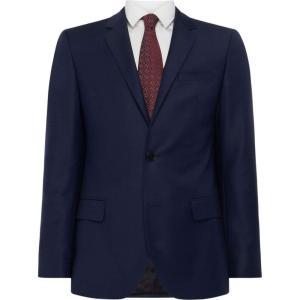 ヒューゴ ボス Hugo メンズ スーツ・ジャケット アウター Pin Dot Textured Suit Jacket Dark Blue|fermart3-store