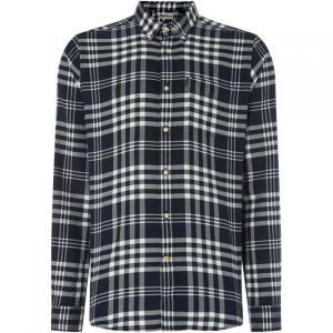 バーブァー Barbour メンズ シャツ トップス Endsleigh Twill Check Shirt Navy|fermart3-store