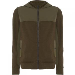 ヒューゴ ボス Boss Orange メンズ パーカー トップス Ztep mixed media zip up hoody Khaki|fermart3-store
