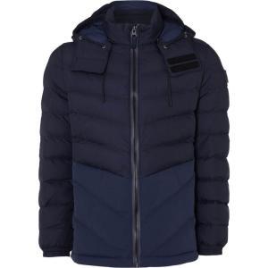 ヒューゴ ボス Boss Orange メンズ ジャケット アウター Obrook Padded Zip Up Hooded Jacket Navy|fermart3-store
