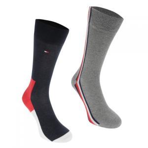 トミー ヒルフィガー Tommy Hilfiger メンズ ソックス インナー・下着 Icon Hidden 2 Pack Socks Multi|fermart3-store