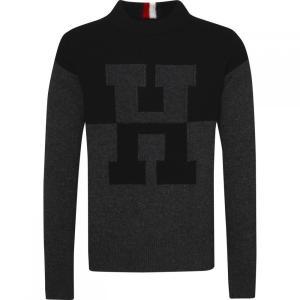トミー ヒルフィガー Tommy Hilfiger メンズ スウェット・トレーナー トップス Oversized Innovative Sweatshirt Jet Black|fermart3-store