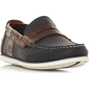 バーブァー Barbour メンズ ローファー シューズ・靴 Keel Casual Penny Loafer Shoes Navy|fermart3-store