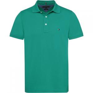 トミー ヒルフィガー Tommy Hilfiger メンズ ポロシャツ トップス Slim Fit Polo Green|fermart3-store