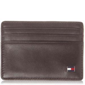 トミー ヒルフィガー Tommy Hilfiger メンズ カードケース・名刺入れ Eton Classic Card Holder Brown|fermart3-store