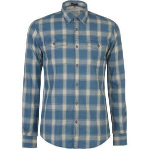 バーブァー Barbour International メンズ トップス Barbour Holman Check Shirt Indigo|fermart3-store