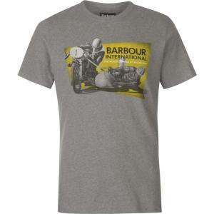 バーブァー Barbour International メンズ Tシャツ トップス Barbour Archive T Shirt Anthracite Marl|fermart3-store