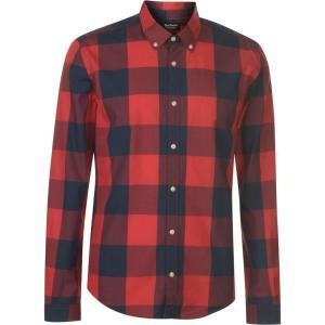 バーブァー Barbour International メンズ トップス Barbour Bold Check Shirt Pillar Box Red|fermart3-store