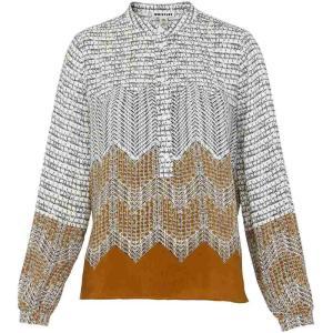 ホイッスルズ Whistles レディース Tシャツ トップス heather aztec print shirt Gold|fermart3-store