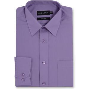 ダブルTWO Double Two メンズ シャツ トップス Classic Easy Care Long Sleeved Shirt Heather|fermart3-store