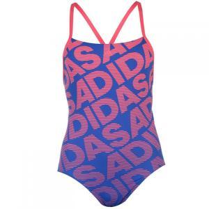 アディダス adidas レディース ワンピース 水着・ビーチウェア All Over Print Swimsuit Real Pink|fermart3-store