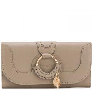 クロエ See By Chloe レディース 財布 See Joan L Flapover Motty Grey W|fermart3-store