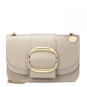 クロエ See By Chloe レディース ショルダーバッグ バッグ Hopper Cross Body Bag Motty Grey W|fermart3-store