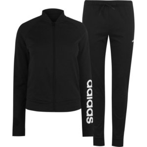 アディダス adidas レディース ジャージ アウター Marker Tracksuit Black/White fermart3-store