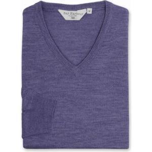 ダブルTWO Double TWO メンズ ニット・セーター トップス King Size V Neck Sweater Heather|fermart3-store