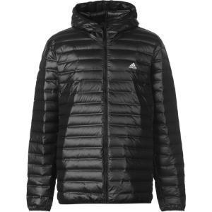 アディダス adidas メンズ ダウン・中綿ジャケット フード アウター Varilite Down Hooded Jacket Black fermart3-store