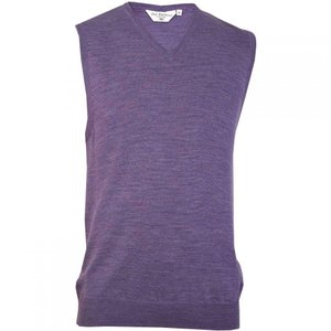 ダブルTWO Double Two メンズ ノースリーブ Vネック トップス Sleeveless V Neck Sweater Heather|fermart3-store