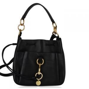 クロエ See By Chloe レディース バッグ Tony Medium Leather Bucket Bag Black|fermart3-store
