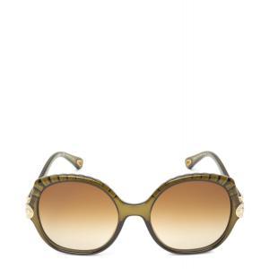 クロエ Chloe ユニセックス メガネ・サングラス Vera Sunglasses Crystal khaki|fermart3-store