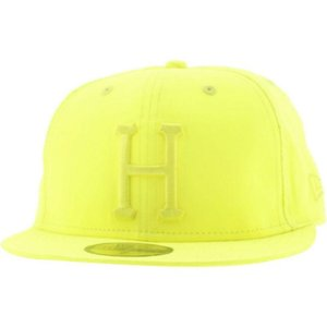 ハフ HUF メンズ 帽子 キャップ Huf 3M Reflective Neon Yellow New Era Fitted Cap|fermart3-store