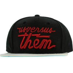 アス バーサス ゼム Us Versus Them メンズ 帽子 キャップ Us Versus Them Magnum Banner Trucker Snapback Cap|fermart3-store