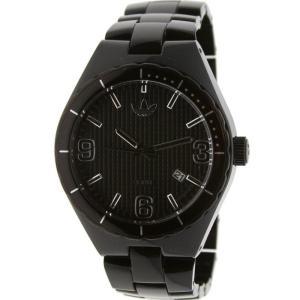 アディダス メンズ 腕時計 Adidas Cambridge Nylon Watch black / clear|fermart3-store