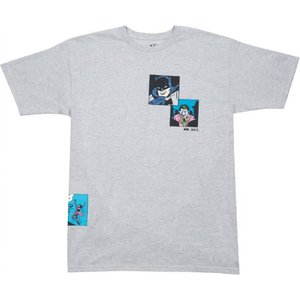 BAIT メンズ Tシャツ トップス x batman men fight scenes tee gray/heather|fermart3-store
