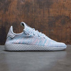 アディダス メンズ スニーカー シューズ・靴 Adidas x Pharrell Williams Tennis HU blue / noble ink / semi frozen yellow / core black|fermart3-store