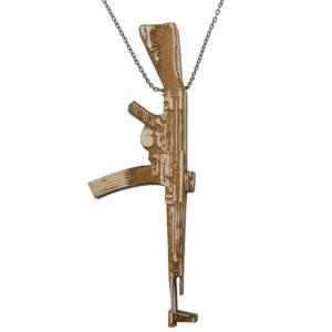 グッドウッド Good Wood NYC メンズ アクセサリー ネックレス Good Wood NYC Chained Necklace - Machine Gun|fermart3-store