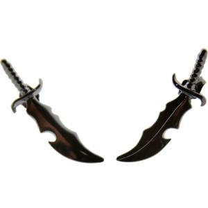 ハンチョロ Han Cholo メンズ アクセサリー イヤリング Han Cholo Dagger Stud Earrings - Precious Metal Series fermart3-store