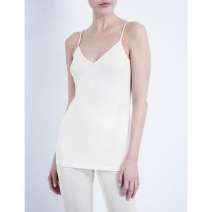 ハンロ HANRO レディース インナー トップのみ Pure silk vest top Cream fermart3-store