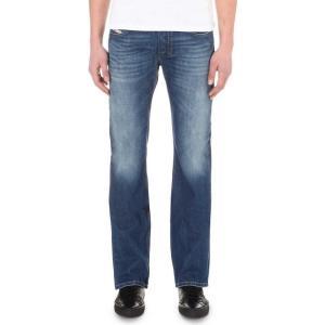 ディーゼル DIESEL メンズ ボトムス ジーンズ Zatiny 08XR slim-fit bootcut jeans Denim|fermart3-store