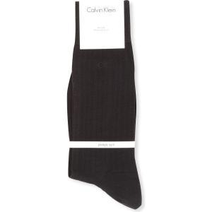カルバンクライン calvin klein メンズ インナー ソックス ribbed silk-blend socks Black fermart3-store