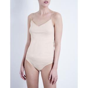 ハンロ HANRO レディース インナー トップのみ Seamless cotton camisole Skin fermart3-store