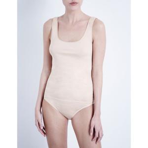 ハンロ HANRO レディース インナー トップのみ Seamless cotton vest top Skin fermart3-store