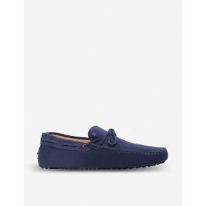 トッズ tods メンズ シューズ・靴 ドライビングシューズ gommino heaven driving shoes in suede Blue|fermart3-store