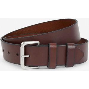 ラルフ ローレン メンズ ベルト double-keeper leather belt Brown|fermart3-store