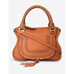クロエ CHLOE レディース ショルダーバッグ バッグ Marcie medium shoulder bag Tan|fermart3-store