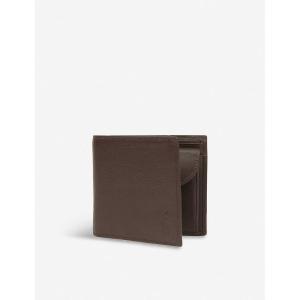ラルフ ローレン polo ralph lauren メンズ 財布 pebbled leather wallet Brown|fermart3-store