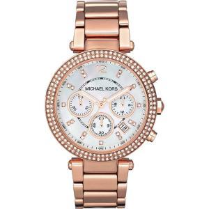 マイケルコース michael kors レディース アクセサリー 腕時計 mk5491 parker rose gold-plated watch Mother of pearl|fermart3-store