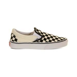 ヴァンズ レディース スリッポン・フラット シューズ・靴 classic slip-on trainers Blackwht check|fermart3-store