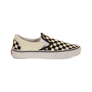 ヴァンズ vans レディース スリッポン・フラット シューズ・靴 classic slip-on trainers Black wht check|fermart3-store