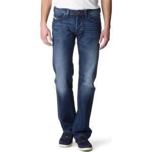 ディーゼル DIESEL メンズ ボトムス ジーンズ Larkee 08XR regular-fit straight jeans Light blue|fermart3-store
