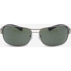 レイバン ray-ban レディース アクセサリー メガネ・サングラス gunmetal rectangle sunglasses rb3379 64 Gunmetal|fermart3-store