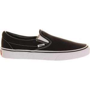 バンズ vans メンズ シューズ・靴 スニーカー classic slip-on trainers Black white|fermart3-store