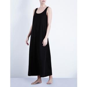 ハンロ HANRO レディース インナー パジャマ Deluxe cotton-jersey nightdress Black fermart3-store