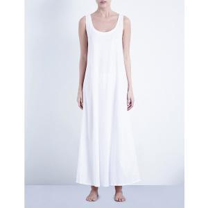 ハンロ HANRO レディース インナー パジャマ Deluxe cotton-jersey nightdress White fermart3-store